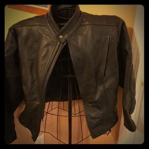 Fox Creek Vented Leather Motorcycle Jacket Men's